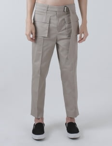 Moussa Cream Mika Double Pocket Pants