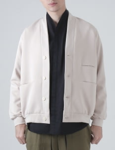 jan sober Cream Scuba Jacket