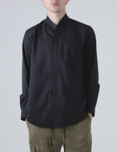 jan sober Black Collarless PT II Shirt