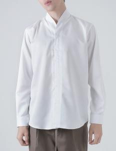 jan sober White Collarless PT II Shirt