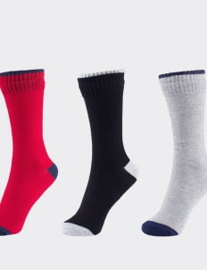 Pattent Goods Mix Solid II Sock Package (Set of 3)