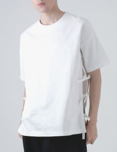 Moral White Boxy String Top