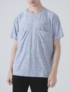 Moral Blue Dri-Fit Bi-Pocket T-shirt