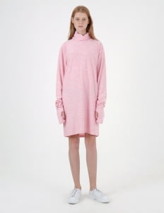Moral Pink Dri-Fit Turtle Neck Dress