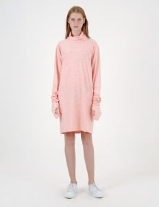 Moral Peach Dri-Fit Turtle Neck Dress