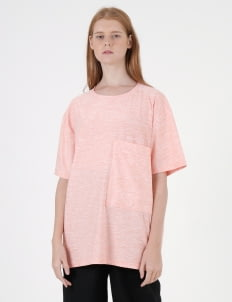 Moral Peach Dri-Fit Pocket T-Shirt
