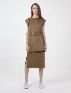 ATS THE LABEL Olive Edgar Dress