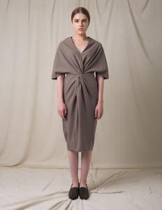 Morningsol Gray Fold Dress