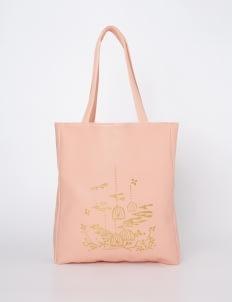 Scoolmate Design Pink Goldie Spring Tote Bag