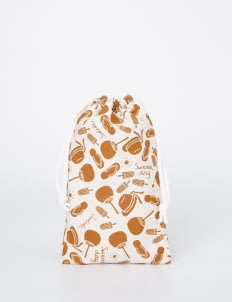 Scoolmate Design Brown & White Summer Day Pouch