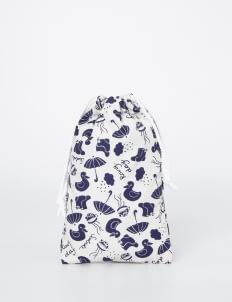 Scoolmate Design Blue & White Rainy Day Pouch