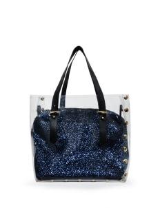 BOPA Blue Sparkles Carré Handbag