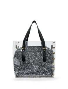 BOPA Silver Carré Sparkles Handbag