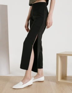 CLOTH INC Black Ivy Slit Pants