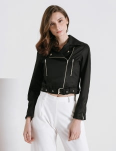 CLOTH INC Black Biker Jacket