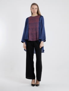 Larissa Duliar Blue & Purple Nadilla Blouse