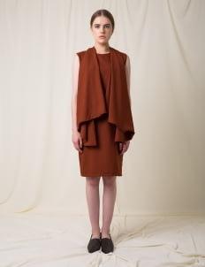 Morningsol Brown Cape Dress