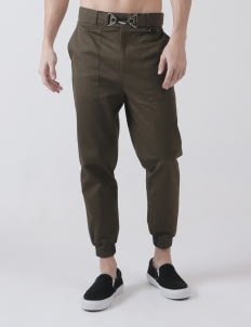 Moussa Olive Buckle Pants