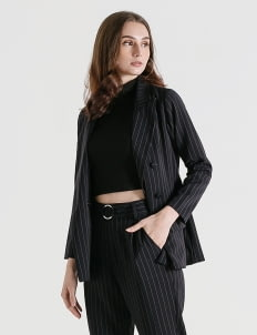 CLOTH INC Prinstripe Logan Pinstripe Blazer