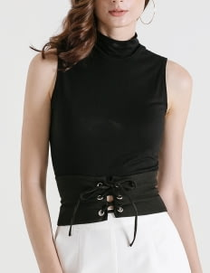 CLOTH INC Black Waist Corset Belt