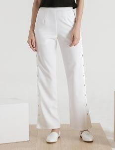 CLOTH INC White Snap It Pants