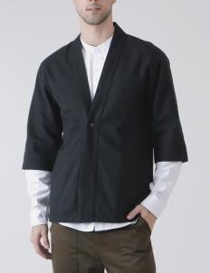Jackhammer Co Black Noragi Kimono