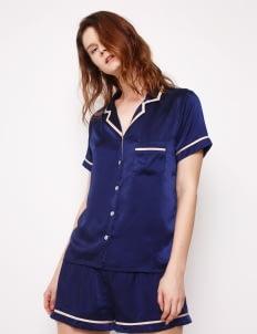 Harper House Navy & Champagne Elise Short Pyjamas Set