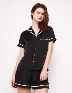Harper House Black Elise Short Pyjamas Set