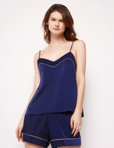 Harper House Navy & Champagne Coco Camisole Set
