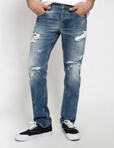Sixteen Denim Scale Blue Dippskin MW 03 Denim Pants