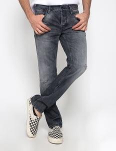 Sixteen Denim Scale Black Dippskin MW 05 Denim Pants