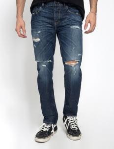 Sixteen Denim Scale Dark Blue Dippskin MW 06 Denim Pants