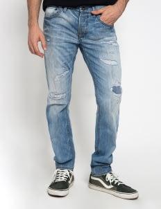 Sixteen Denim Scale Blue DippTight MW 07 Prewashed Denim Pants