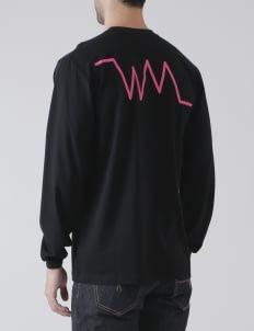 Watermelon Supply Co Black Heartbeat Logo Sweatshirt