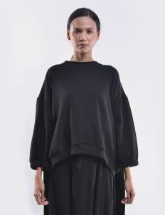 O by Oscar Lawalata Black Layered Sweatshirt