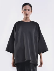 O by Oscar Lawalata Black Unfinished Sweatshirt