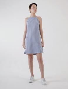 Renoir Blue & White Stripes Arden Slip Dress