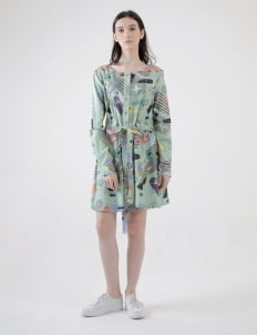 PURANA RTW Green Sherly Playsuit