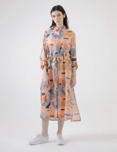 PURANA RTW Salmon Sasha Dress