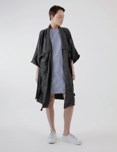 Calla The Label Dark Gray Kimono Outer