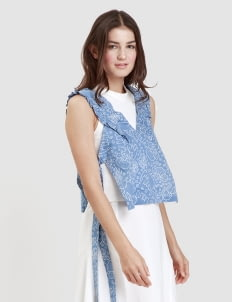 Warangka Batik Blue Faux Tie Outer