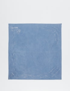 Sukkhacitta Blue Quote Sojourner Silk Cotton Bandana