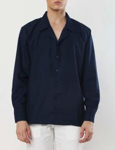 Gavi Navy Work Shirt