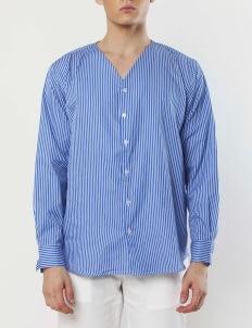 Gavi Light Blue V-Neck Buttoned Shirt