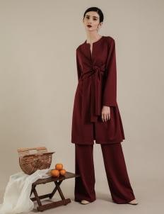 DUMA Maroon Layru Dress