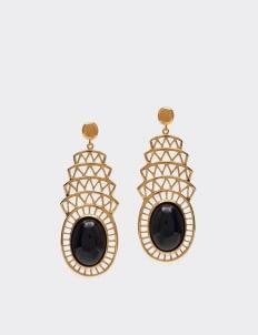Alexandra Alberta Black Onyx Khrysler Earrings