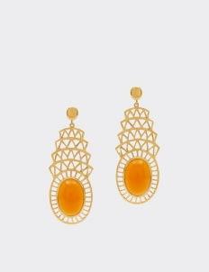 Alexandra Alberta Orange Carnelian Khrysler Earrings