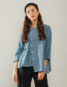 Bel. Corpo Blue Rullete Top