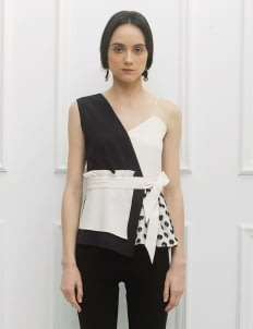 NADIYA Black & White  Kira Top