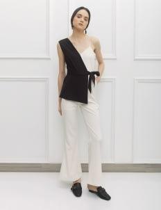 NADIYA Black & White Lexa Jumpsuit